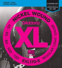 D'Addario EXL170-5 (45-130) Regular
