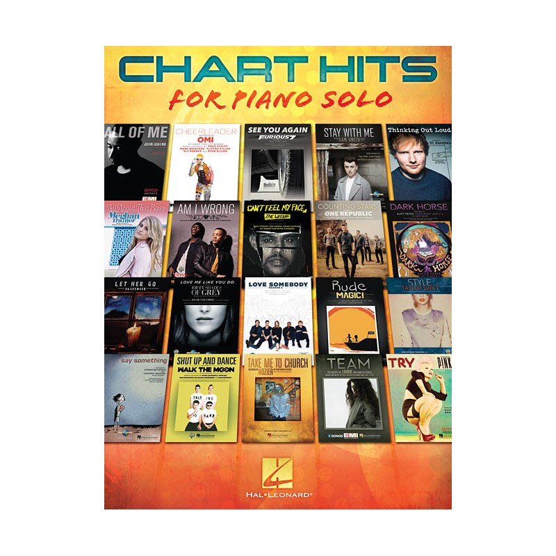 Auteurs Divers - Chart Hits for Piano Solo