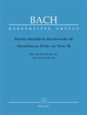 Bach - Miscellaneous Works vol. 3