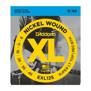 D'Addario EXL125 (9-46) Super Light/Regular Bott